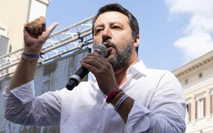 Governo, le dichiarazioni di Salvini da manifestazione a Roma. VIDEO