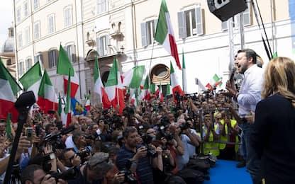 Conte bis, manifestazione contro il governo. FOTO