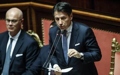 """Conte al Senato contro Lega: """"Non vedo dignità nel voltafaccia"""". VIDEO"""