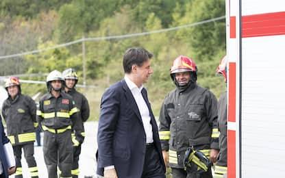 """Conte ad Accumoli: """"Qui per soluzioni concrete"""". FOTO"""