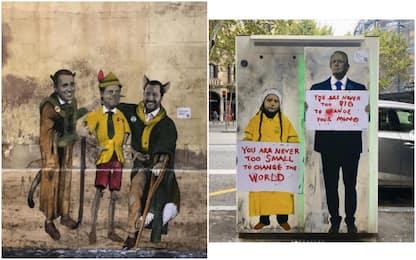 Tutti i murales di Tvboy. FOTO