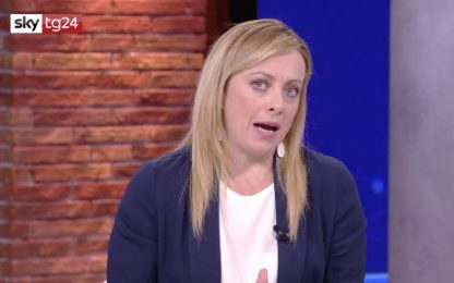 """Governo, Meloni a Sky Tg24: """"Non durerà tutta la legislatura"""""""