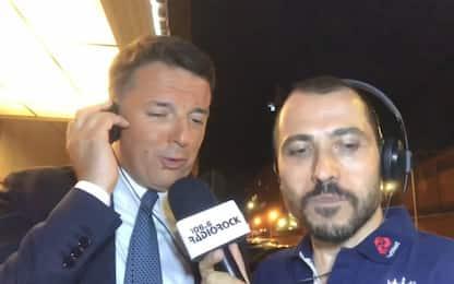 """Renzi canta """"Rimmel"""" e la dedica a Zingaretti. VIDEO"""