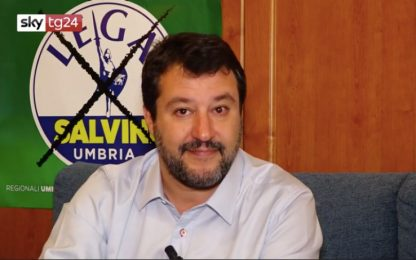 """Elezioni Umbria, Salvini: """"Si voterà contro il governo dei traditori"""""""