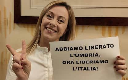 """Elezioni Regionali Umbria, Meloni: """"Espugnata roccaforte di sinistra"""""""