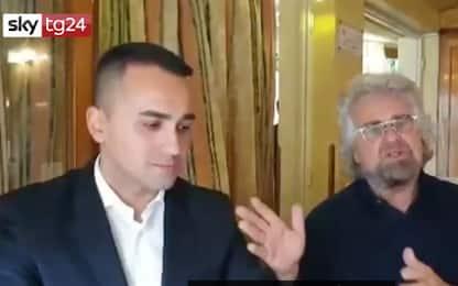 """Beppe Grillo incontra Di Maio: """"Lui è il capo politico"""". VIDEO"""