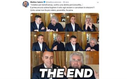 Grillo-Di Maio, Salvini: svendono sogno. Zingaretti elogia i 5S