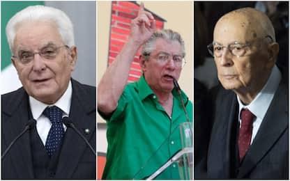 Mattarella grazia Bossi condannato per offese a Napolitano