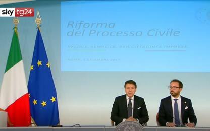 Conte dopo il Consiglio dei Ministri: svolta su tempi processo civile