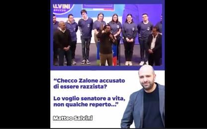"""Salvini scherza su Checco Zalone: """"Lo voglio senatore a vita"""". VIDEO"""