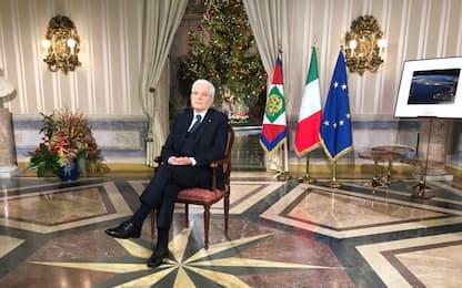 Presidente Mattarella, il discorso di fine anno. VIDEO