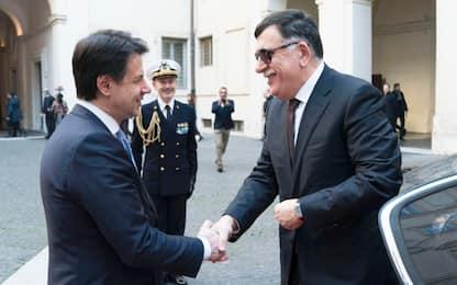 Libia, Conte: Europa sia garante. Sarraj: Haftar si ritiri