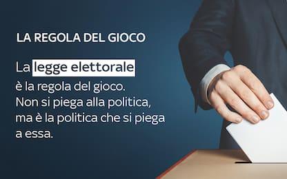 La legge elettorale è la regola del gioco, non si piega alla politica