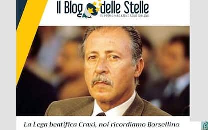 "M5s su Craxi: ""Lega beatifica latitante. Noi ricordiamo Borsellino"""