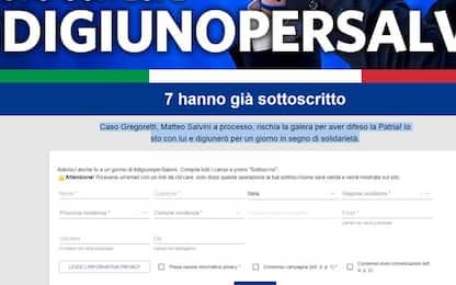 Caso Gregoretti, la Lega apre il sito digiunopersalvini.it