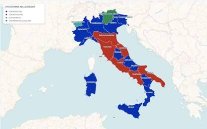 Chi governa nelle Regioni, la mappa: centrodestra avanti 13 a 6