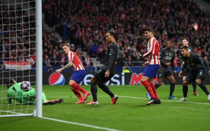 Champions, Atletico Madrid-Liverpool 1-0: video, gol e highlights