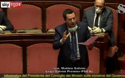 "Coronavirus, Salvini: ""Collaborativi, non spettatori. Bene Draghi"""