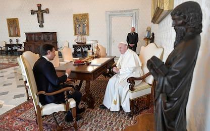 Coronavirus, Papa Francesco incontra Conte. FOTO