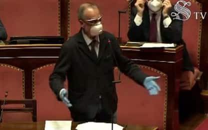 """Coronavirus, Calderoli: """"Chi è senza mascherina è un pericolo"""". VIDEO"""