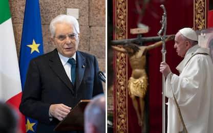 Messaggio Mattarella al Papa per Pasqua: da lui appello contro egoismi
