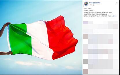 """25 aprile, Conte cita De Gregori: """"Viva l'Italia che resiste"""""""
