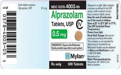 Xanax, ritirato negli Stati Uniti un lotto del farmaco generico