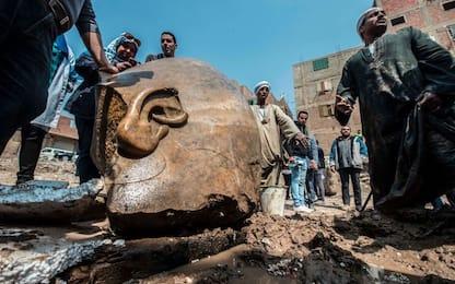 Egitto, statua di Ramses II trovata alla periferia del Cairo