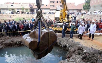 Il recupero della statua di Ramses II