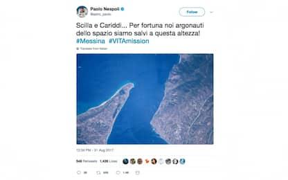 Nespoli omaggia l'Italia dallo Spazio: foto dello stretto di Messina