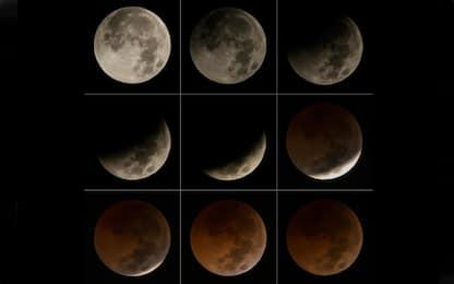 L'eclissi lunare vista da diversi Paesi