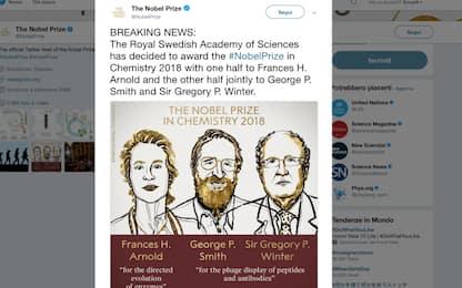Premio Nobel per la chimica 2018 a Arnold, Smith e Winter