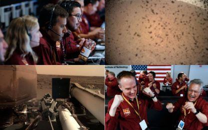 InSight su Marte: tensione ed esultanza alla Nasa. FOTO