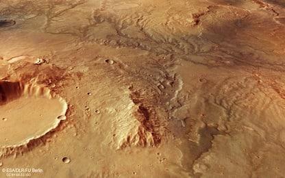 Marte: la firma degli antichi fiumi nelle spettacolari foto dell'Esa