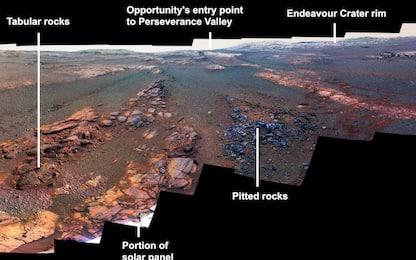 Marte: la Nasa pubblica le ultime foto di Opportunity