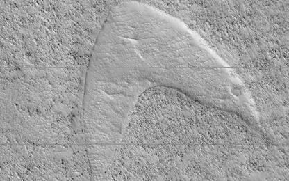 Nasa, il simbolo di Star Trek scolpito sulle ex dune di Marte