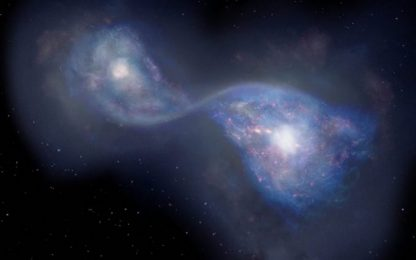 Osservata la fusione tra galassie più antica: 13 miliardi di anni fa