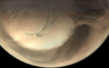 Marte, Polo Nord spazzato da tempeste di sabbia