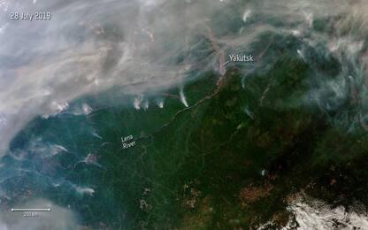 Incendi in Siberia, la foto dallo spazio