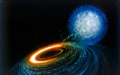 Cercata firma della collisione tra stella di neutroni e un buco nero