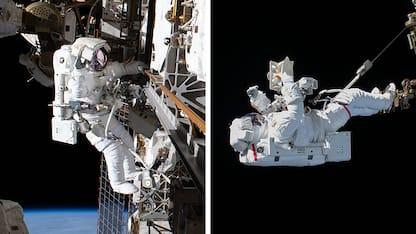 Iss, terza passeggiata spaziale di Luca Parmitano. FOTO