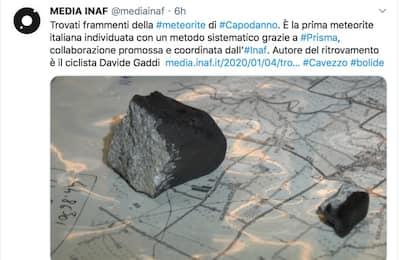 Meteorite di Capodanno, frammenti ritrovati nel Modenese
