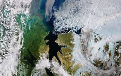 Sempre meno ghiaccio, lo scatto del satellite sul Mar Glaciale Artico