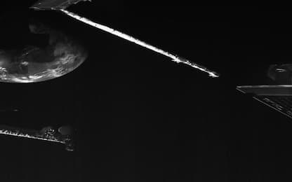 La Terra vista dalla sonda BepiColombo, diretta su Mercurio