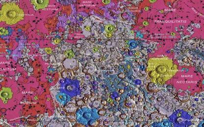 Nasa, realizzata la prima mappa geologica completa della Luna