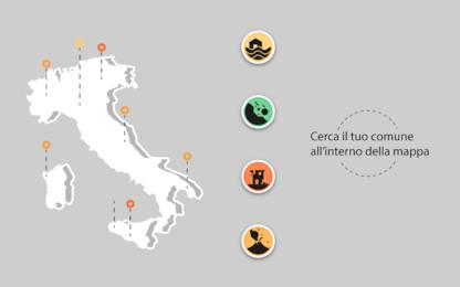 Rischio idrogeologico, mappa interattiva: istruzioni per l'uso