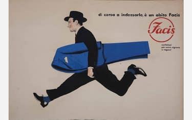 01_Armando_Testa__Di_corsa_a_indossarlo___un_abito_Facis__bozzetto_per_manifesto___1954_