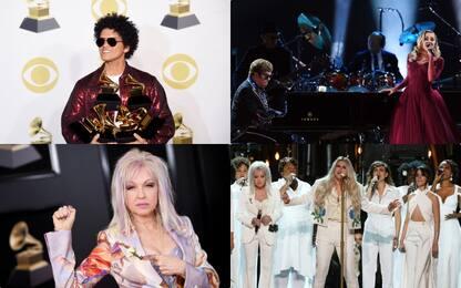 Grammy 2018 look rose bianche