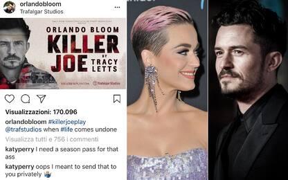 """Oops"", Katy Perry posta per errore un messaggio hot per Orlando Bloom"