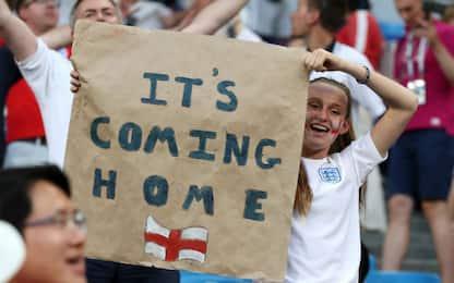 """""""It's coming home"""", il significato del motto dell'Inghilterra"""